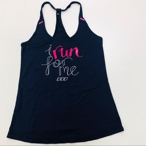 I Run For Me Navy & Hot Pink Workout Tank Sz S